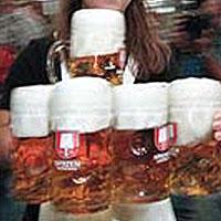 the oktoberfest - beer mugs and cheers!!