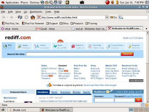 rediff.com - homepage of rediff.com