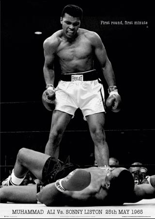 Muhammad Ali knocking his opponent in first round  - Muhammad Ali knocking his opponent in first round in first minute!