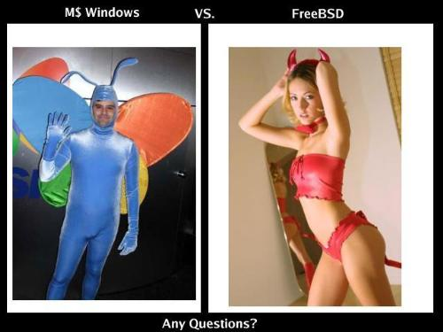 Microsoft Windows vs FreeBSD - Ive got the answer yeah!
