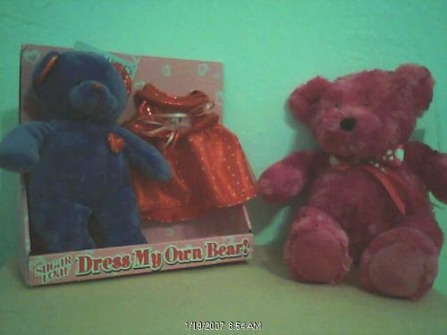 My preety bear - the picture is a bit dark. The bear is so cute