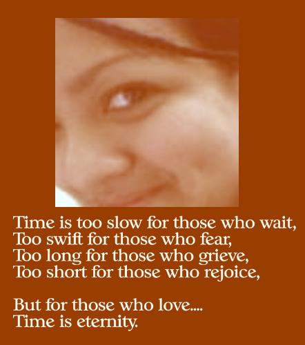 love and its relationship with time - eternal love