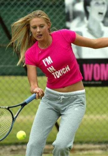 maria sharapova - she plays excellent