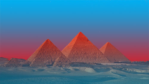 who built the pyramids - The pyramids are huge and can be seen from space. Who made them, really?