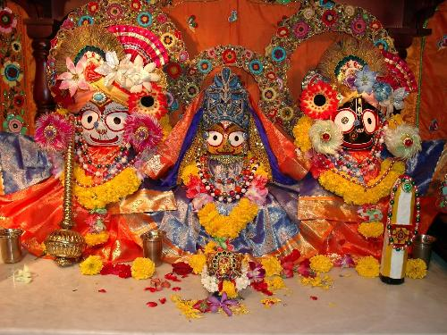 Lord Jagannath - This photo is of the God Jagannath his brother Balabhadra and his sister Subhadra