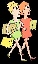 Friends going to the mall. - These friends are going to the mall.But one of them isvery loud, does crazy things there and embrrases her friend.