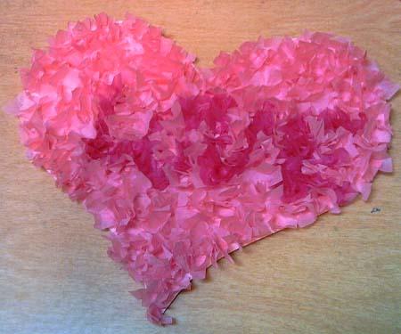 Tissue Love Heart - Tissue love heart to make