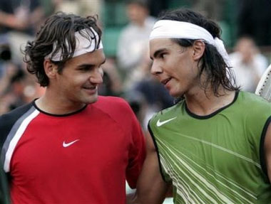 The 2 monty's of tennis! - Federer and nadal after completing grand slam match!