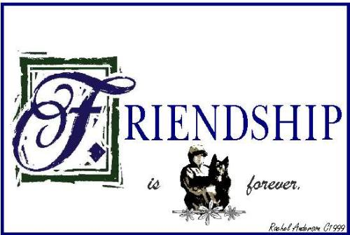 friendship is forever - friendship is forever. It is an important thing making friends on internet and in real life!