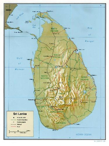 Sri Lanka - Sri Lanka map