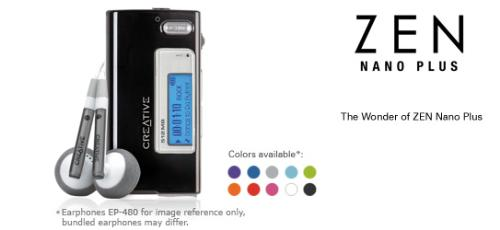 Creative Zen Nano Plus - Creative Zen Nano Plus mp3 player with fm radio
