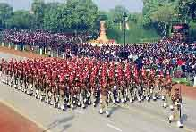 indian republic day - republic parade at red fort, india