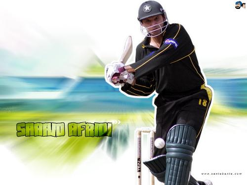 Shahid Afridi. - Afridi, great all rounder.