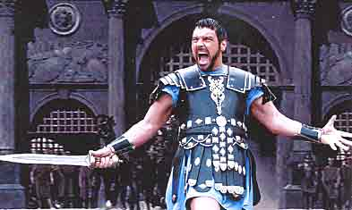 russell crowe - this is a pic from his all time hits gladiator one of my favourites