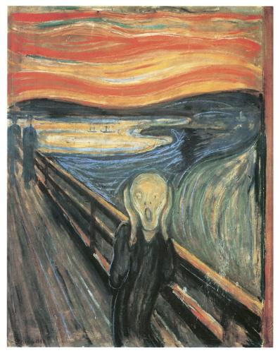 scream - clip art of famous painting