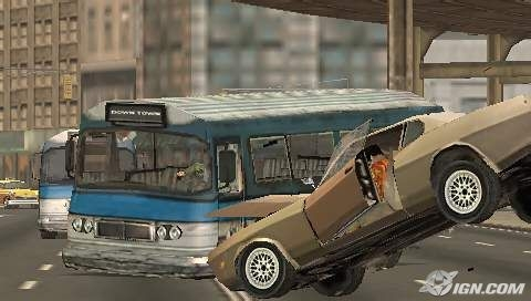 drive - crashing into an bus.