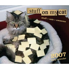 Stuff on my cat - Cover of the 'stuff on my cat' calendar