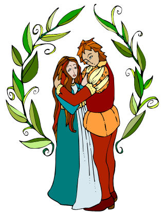 ... and Juliet - Romeo and Juliet clip art -- stained-glass look / myLot