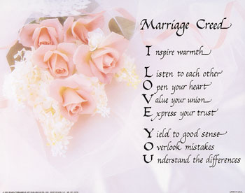 Marriage Creed - Getting married!