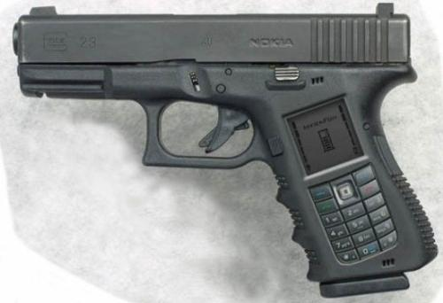 WOW ...a cell phone pistol - God knows what Nokia is upto.. ...