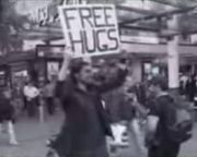 Free Hugs Is an Actual Campaign - The Free Hugs Campaign is an Internet meme that appears to have begun in 2004[1], and was widely publicized in 2006 by a music video. It involves individuals who offer hugs to strangers in public settings. The campaign is an example of a random act of kindness, a selfless act performed by someone for the sole reason of making others feel better. The original organizer has stated in interviews that the purpose is not to get names, phone numbers, or dates.[2]