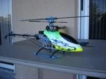 Radio controlled Align TREX 450SE - This is a photo of the Align TREX 450SE version 2. This is IMO, the best 400 size r/c heli. It is of extremely high quality build and is capable of doing all the stuff the larger gas helis can do.