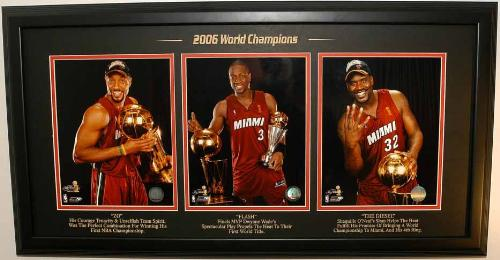 Triple Treat - Alonzo, Dwayne and Shaq, the real big stars of Miami Heat.