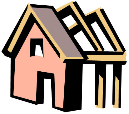 Building a house - clip art of a house being built / myLot