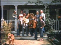 The Waltons family Dog - The entire Walton family is pictured here including their family dog, Reckless the bloodhound