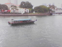 Waterboat in Singapore River - This is one of the mode of transportation in Singapore... from from quay to another quay...
