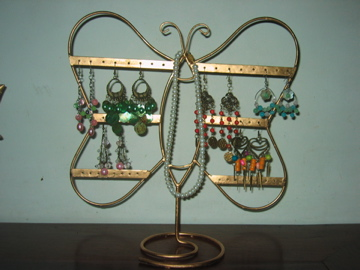 """jewelry holder - This is my jewelry holder for organizing my accessories like earrings, bracelets,etc. I don't have to look for long what I want to wear for the day... Just pick up one and Voila!!!! Ready to go!!! """"_"""
