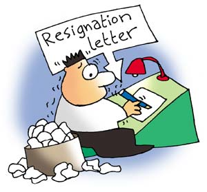 Writing a resignation letter - how many times have you written resignation letters?