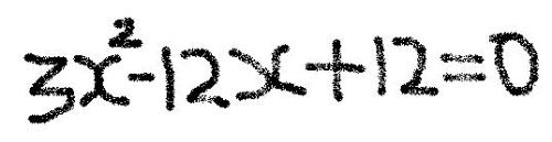maths help - quadratic equation