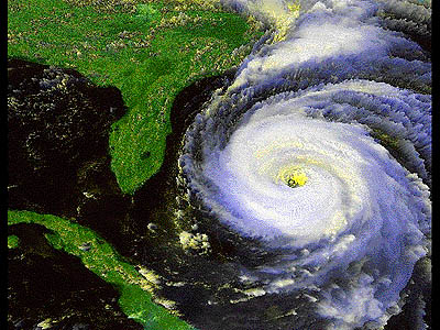 hurricane - a hurricane raising in the ocean
