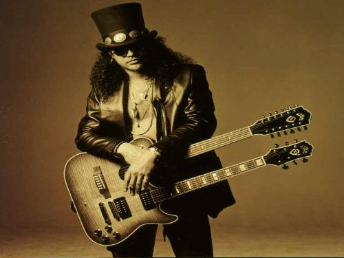 GNR lead guitarist Slash - Slash with a 12 string.