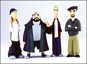Clerks Action Figures - Some of the coolest lack-of-action figures around.  They don't have guns, they don't blow up buildings or save the day but they know their snack food and the meaning of '420 man'.