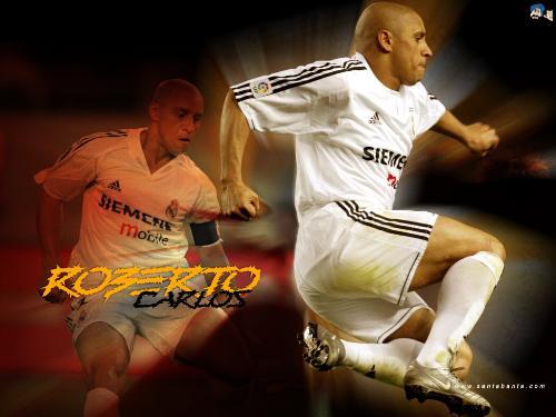 roberto carlos - roberto carlos, free kick specialist in the brazilian team.
