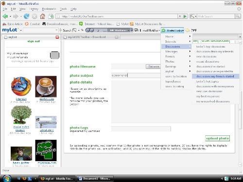 screenshot - screen shot of the mylot toolbar