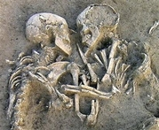 Eternal embrace..  - couple still hugging for 5000 years on...
