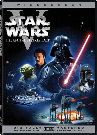 Star Wars Episode 5: Empire Strikes Back DVD Cover.