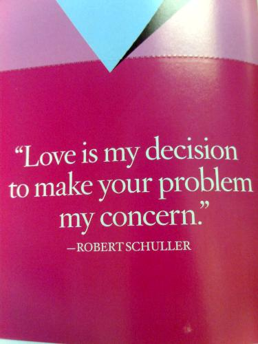 Love is - snapshot of a quote about love from a magazine.