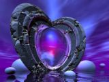 reflective love - It is a heart, shining with love. Will you see yourself there?