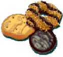Girl Scout Cookies - three different kinds of girl scout cookies