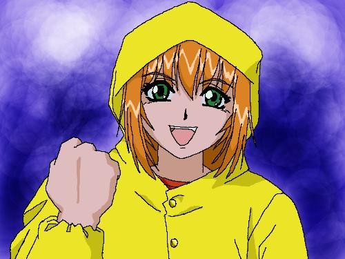 Excel in the rain by Rekkusu - This is Excel from Excel Saga. I done this in photoshop