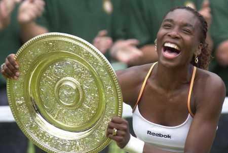 Venus Williams - Venus Williams holding Australian Open winners Shieild.