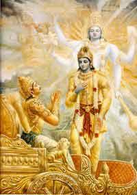 Seeking God's help - Arjun seeking Krishna's help