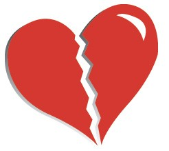 broken heart - it desribes the way you feel when someone wlks out of your life...