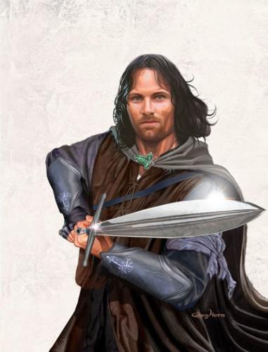 Aragorn, The King of Men - Here is Aragorn, my favourite character from Tolkien's books.