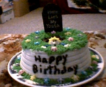 over the hill cake - i made this cake when my mom turned 50.