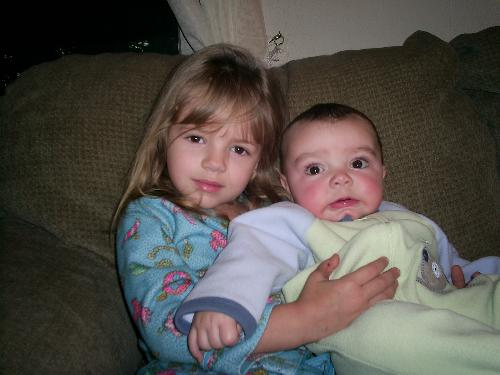 My Grandchilren, Makenzi and Hayden - these are my babies
